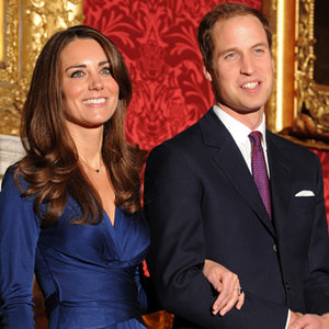 Kate and Wills Royal Wedding photo blue dress