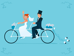 Save money for your wedding with pedal power